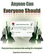 Organ Donor Awareness Poster